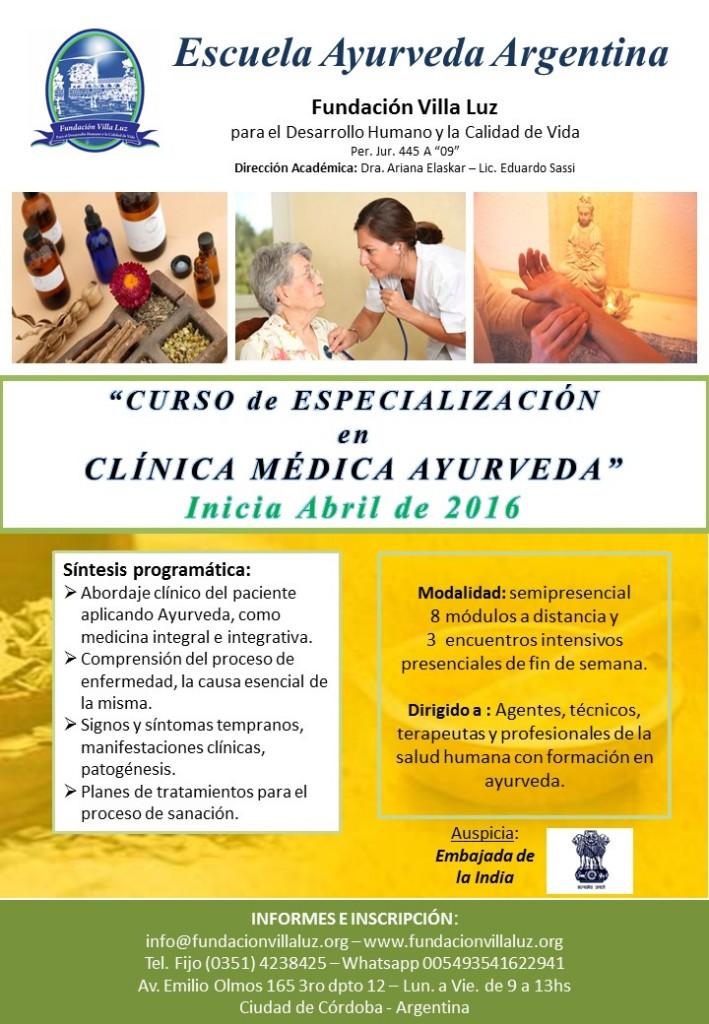 Curso de Especialización Clinica 2016
